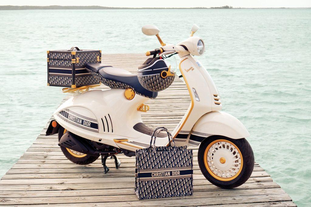 เติมเต็มความฝันในการขับรถแบบคุณหนูด้วย Vespa 946 Christian Dior